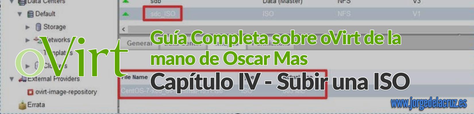 oVirt - Subir una ISO a nuestro Storage - El Blog de Jorge