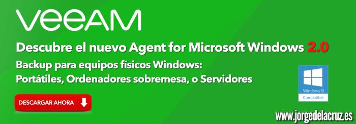 Veeam: Veeam Agent para Microsoft Windows 2 0 está ahora disponible