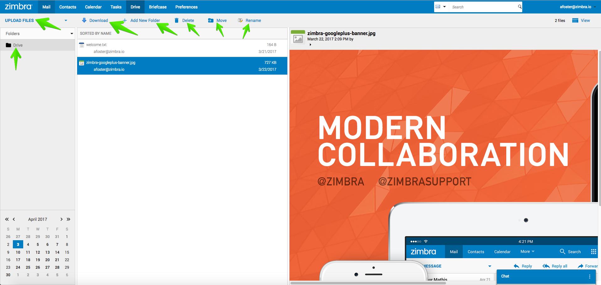 Zimbra: Configuración de Zimbra Drive (ownCloud/nextCloud
