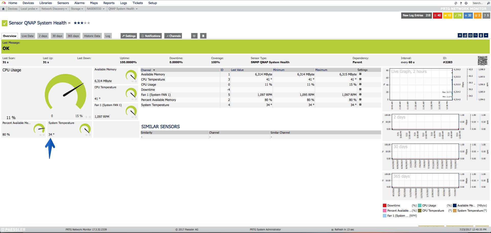 PRTG: Monitorizando el estado, discos, espacio y mucho más de NAS