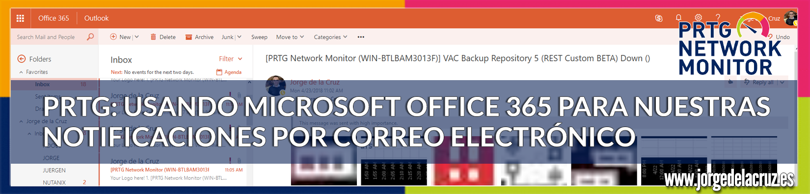 PRTG: Usando Microsoft Office 365 para nuestras