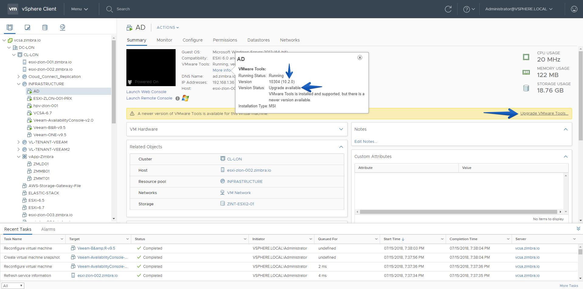 VMware: Descargar e instalar las nuevas VMware Tools 10 3 2 sobre