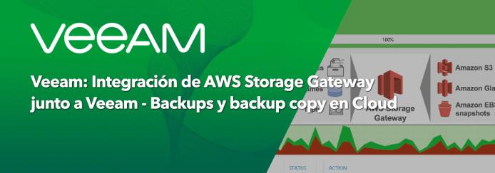 Veeam Integraci 243 N De Aws Storage Gateway Junto A Veeam