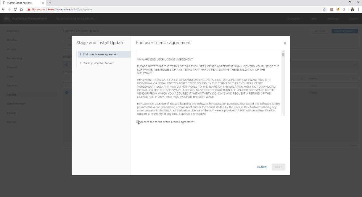 VMware: Actualizar nuestro VCSA a la última versión – VMware