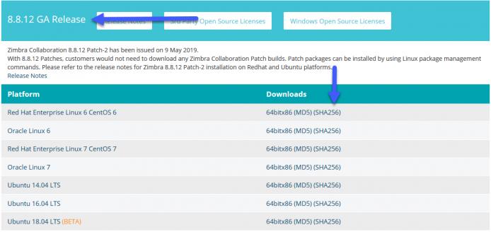 Zimbra: Actualizar a la última versión (ZCS 8 8 12, ZCS 8 7